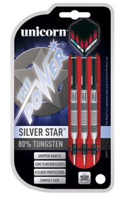Unicorn Silver Star Tungsten Darts - 21g