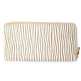 Lily&Rose Cream Pu, Linear Detail With Gloss Finish Zip Through Purse TLP027