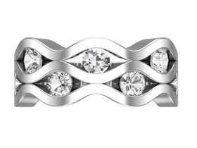 CD Designer Jewellry Ladies 2.15ctw Clear Cubic Zirconia Dress Ring - In 925 Sterling Silver (Ring Size: Q)