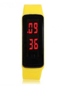 Urban Charm Silicone Band LED Digital Sports Watch - Yellow
