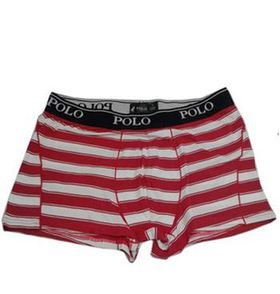 Polo Men's Boxers Two Pack - Red & White Stripe