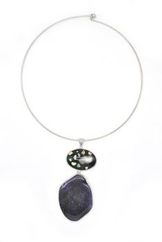 Lily&Rose Natural Stone Set Into A Silver Frame Necklace TLN025