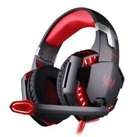 Virtual Surround Sound Gaming Headset - Black And Red