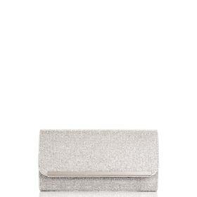 Quiz Silver Diamante Clutch Bag