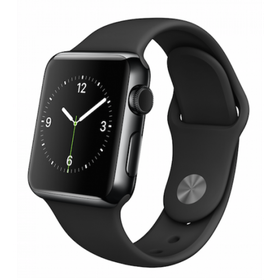Apple Watch 42mm Alum Case with Black Sport Band - Space Grey