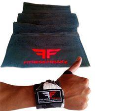 Fitness Freakz Heavy Duty Wrist Straps & Zip Towel Combo