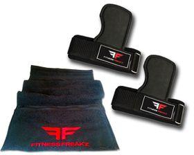 Fitness Freakz Power Grip Pads & Zip Towel Combo