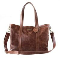Mally Luxury Leather Baby Bag with Changing Mat - Brown