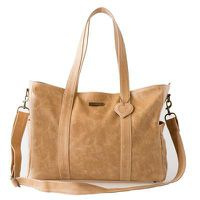 Mally Luxury Leather Baby Bag with Changing Mat - Tan