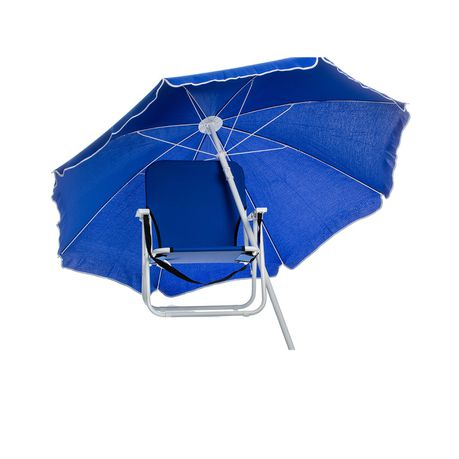 Eco Beach Chair And Umbrella Combo Set Blue