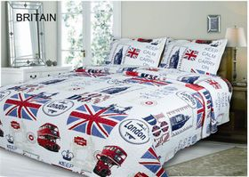 Simon Baker - Britain Quilted and Printed Comforter Set