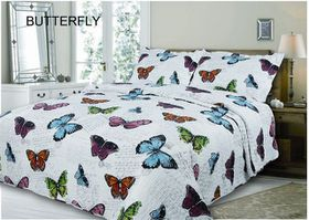 Simon Baker - Butterflies Quilted and Printed Comforter Set