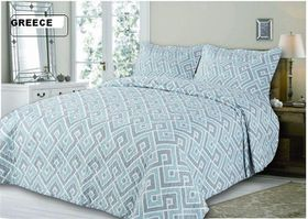 Simon Baker - Quilted and Printed Greece Comforter Set