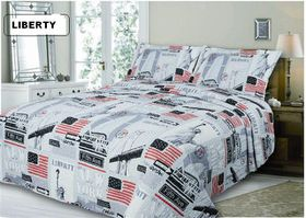 Simon Baker - Quilted and Printed Liberty Comforter