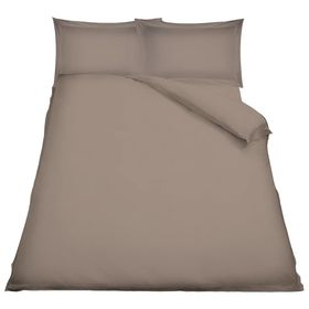 Simon Baker - TC200 Poly Percale 3 Piece Duvet Cover Set - Stone