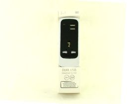 C84-Dual Usb Socket Black