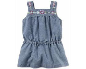 Carters Toddler Girls Embroidered Chambray Tunic