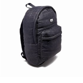 Crosshatch Bolster Quilted Backpack - Black Denim