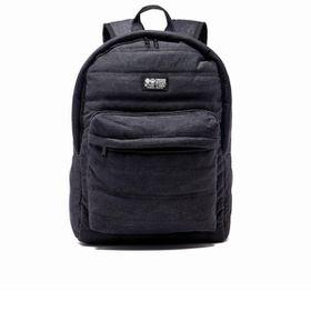 Crosshatch Bolster Quilted Backpack - Black Denim