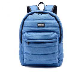 Crosshatch Bolster Quilted Backpack - Light Denim