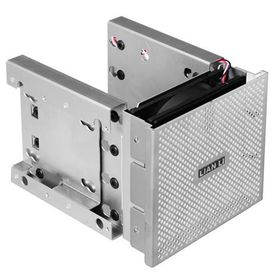"Lianli EX-36A1 Silver 4x 3.5"" + 2x 2.5"" HDD Cage"