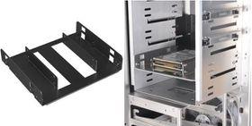 """Lian-li HD-520 Black 2x 2.5"""" - >5.25"""" Mounting Frame"""