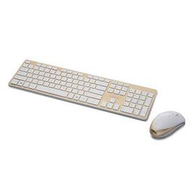 Lian-li KB-01 Wireless Keyboard - White & Gold