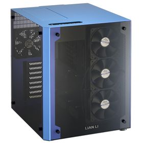 Lian-li PC-O8W Blue 2x Glass Panels Chassis