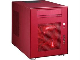Lian-li PC-Q08 Red Mini-ITX Chassis, No PSU