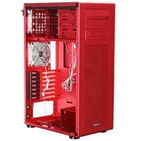 Lian-li PC-X900 Red Windowed Midi Tower, No PSU