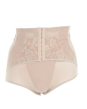 Ladies Adjustable Waist Training Corset Panty - Beige