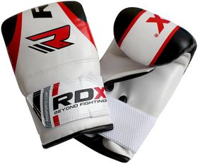 RDX Boxing Bag Mitts - Gel Red (One Size)
