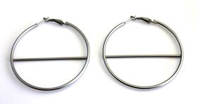 On Fleek Ladies Silver New Style Hoop Earring