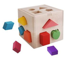 BabyWombWorld Kids Wooden Toys Shape Sorting Cubes