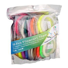 SQUIGG 3D Pen Filament PLA Material , Diameter 1.75mm , 20 Colors , 5M Per Color