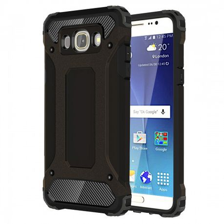 Tuff-Luv Tough Armour Layered Case for Samsung J7 (2016) - Black