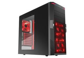 Sharkoon T9 Value - Black (Red LEDs)