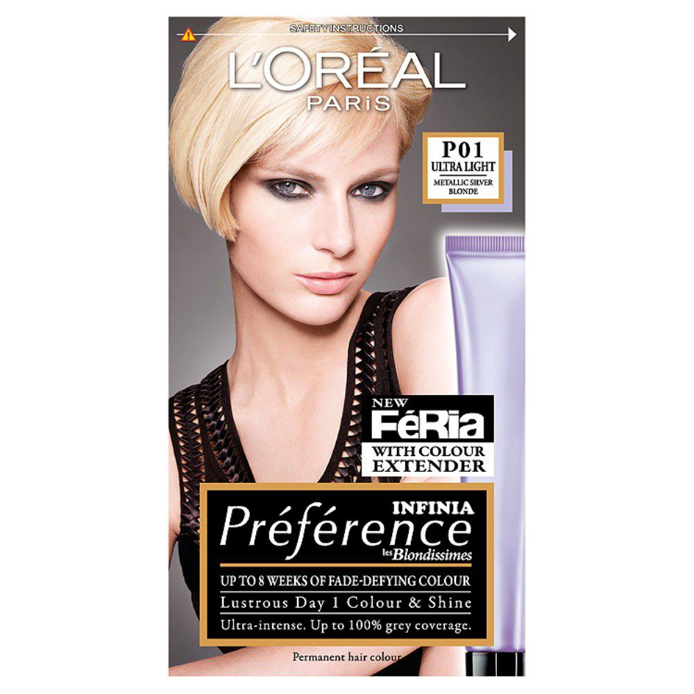 Loreal Paris Preference Light Silver Blonde 01 Buy Online In