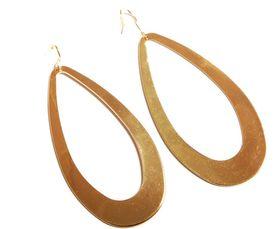 Savannah Oval Drop Hoop Earrings