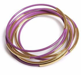 Lavender And Gold Bangles