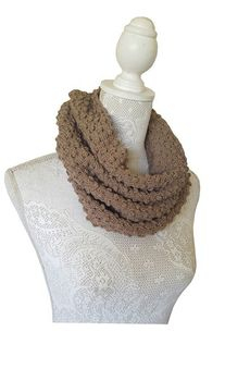 Cowl Hoody Scarf- Taupe