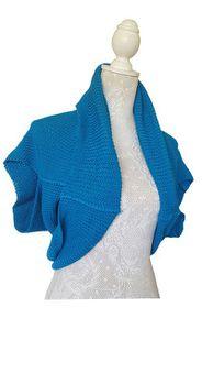 Bolero Shrug Jersey- Turquoise