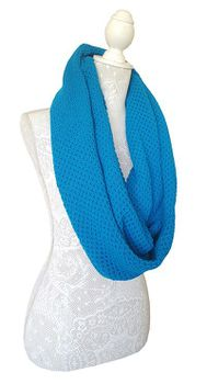 Knitted Shawl Scarf- Turquoise