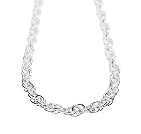 925 Sterling Silver Ladies Twisted Rope Necklace