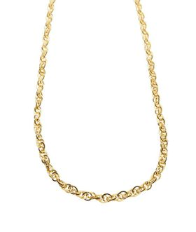 9ct-925 Gold Fusion Ladies Twisted Link Necklace