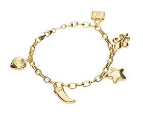 9ct-925 Gold Fusion 5 Charm Bracelet
