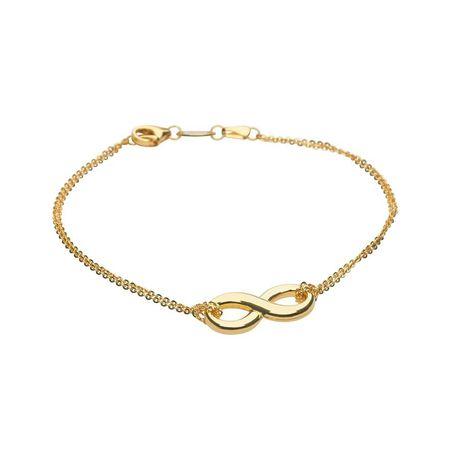 9ct-925 Gold Fusion Ladies Infinity Bracelet