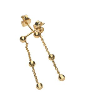 9ct-925 Gold Fusion Ball & Chain Earrings
