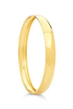 9ct-925 Gold Fusion 8mm C-Shape Bangle