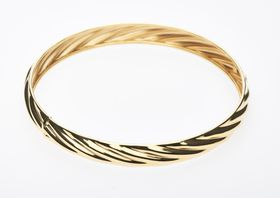 9ct-925 Gold Fusion 9mm Twist Bangle